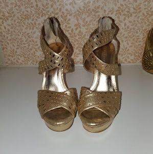 BCBGenaration Gold High Heels